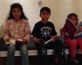 Young readers at Grand Books Sale