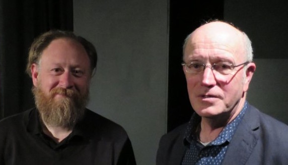 Iain Sinclair, right, and John Rogers