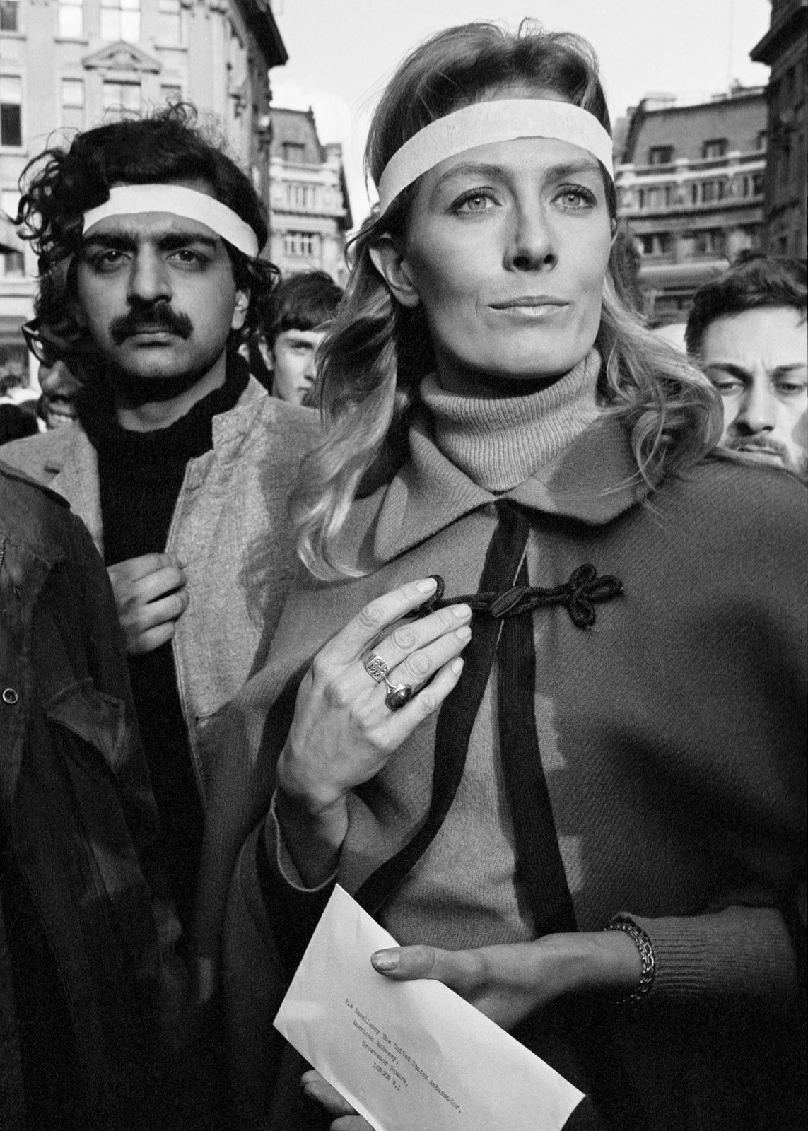Tariq Ali and Vanessa Redgrave protesting against Vietnam war 1968