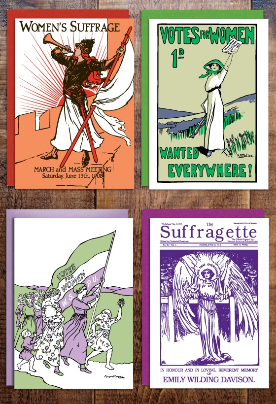 Suffragette greeting cards