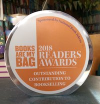 Outstanding Contribution to Bookselling award