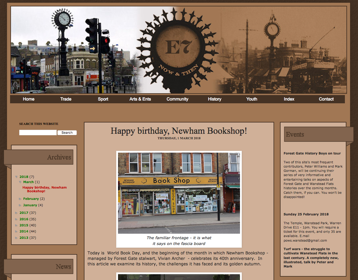 Happy Birthday, Newham Bookshop!