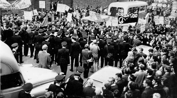 Civil rights march in Derry 1968