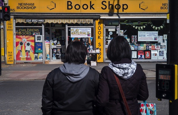 Newham Bookshop with prospective customers
