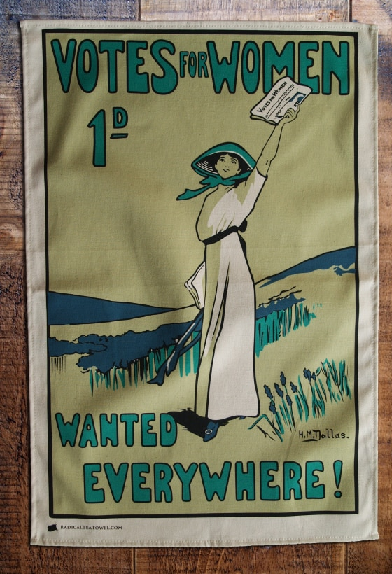 Tea towel Votes for Women