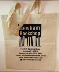 Newham Bookshop tote bag
