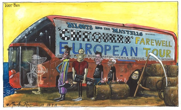 Tour Bus by Martin Rowson