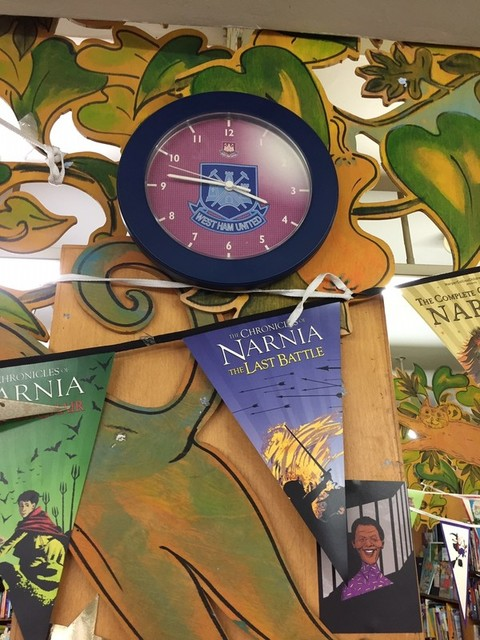 West Ham clock in children's bookshop