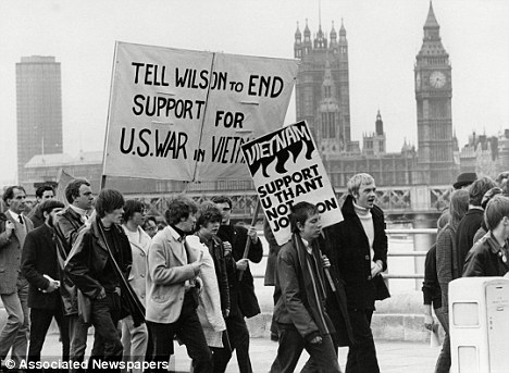 Protest against UK support for USA in Vietnam 1968