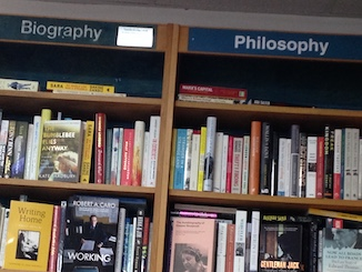Section titles: biography and philosophy