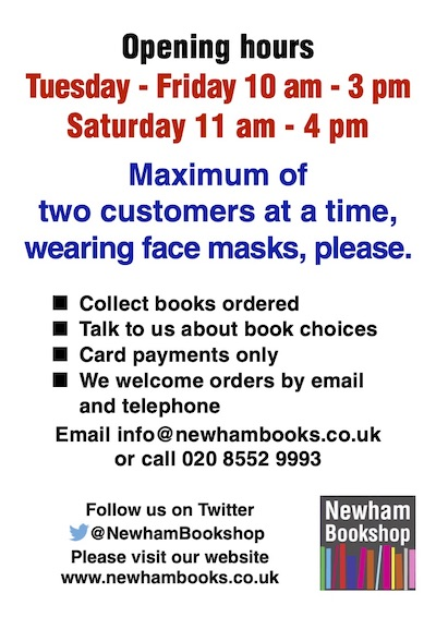 Opening hours, two customers, masks