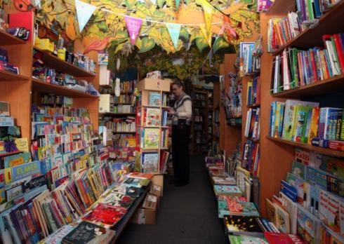 Children's section of Newham Bookshop